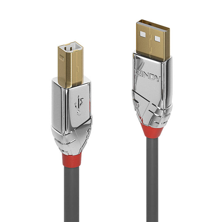 LINDY 1m USB 2.0 Type A to B Cable Cromo