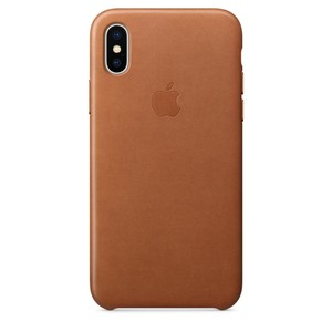 APPLE iPhone Ledercase für iPhone X Sattelbraun
