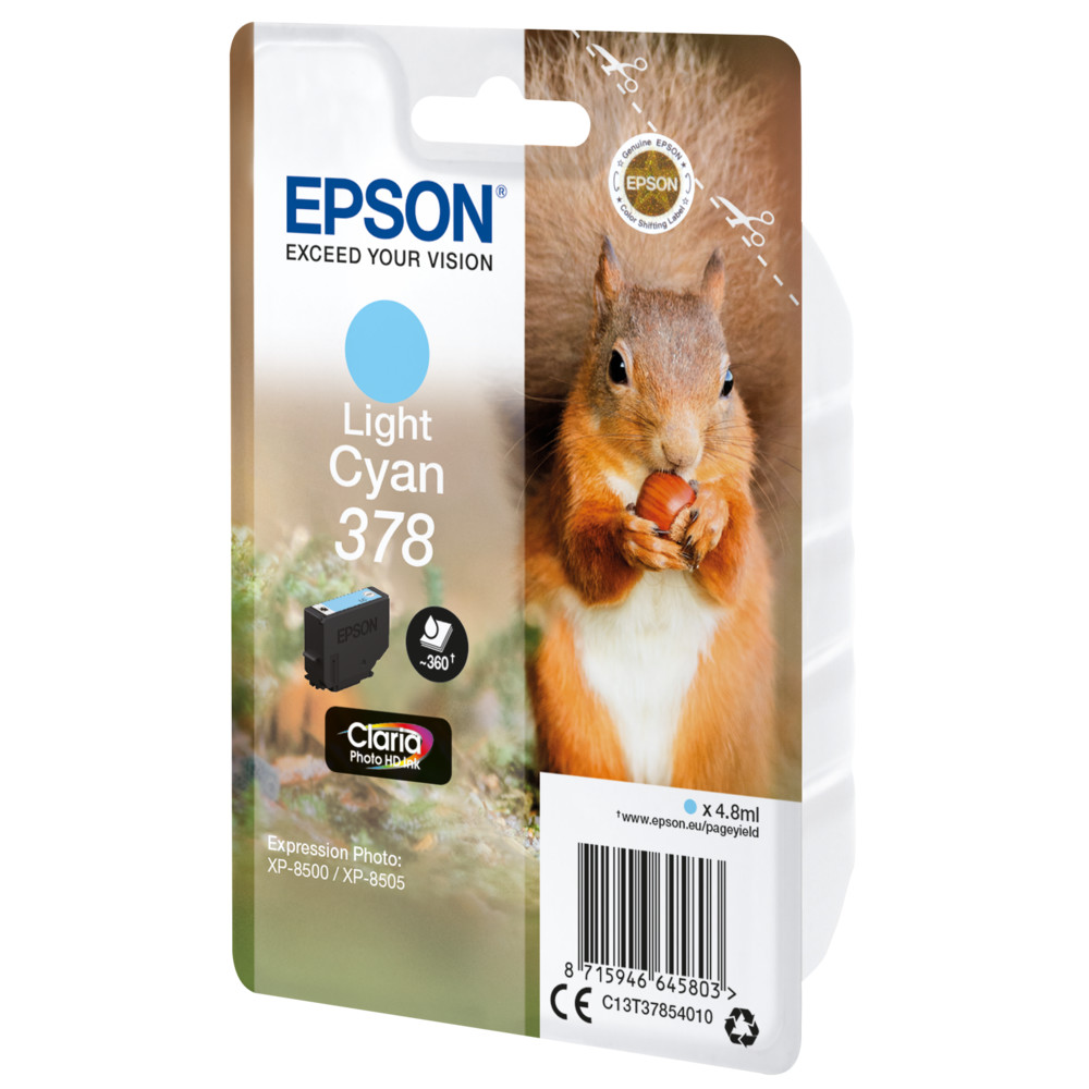EPSON Singlepack Light Cyan 378 Squirrel