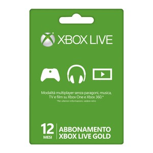 MICROSOFT Xbox One Live Card Gold Member 12 Monate