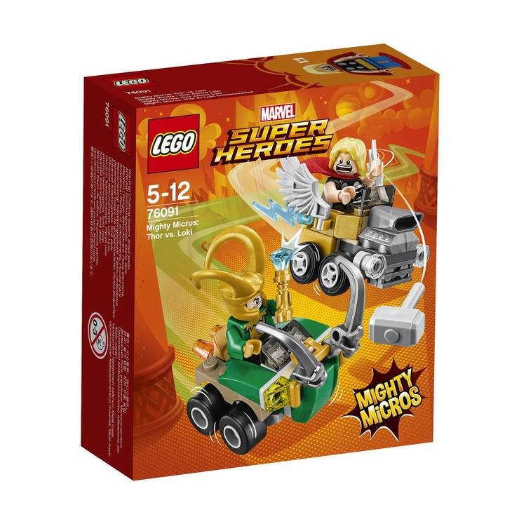 LEGO Marvel Super Heroes Mighty Micros : Thor vs. Loki (76091)