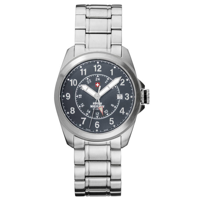 SWISS MILITARY Sportliche Herrenuhr Dual Time