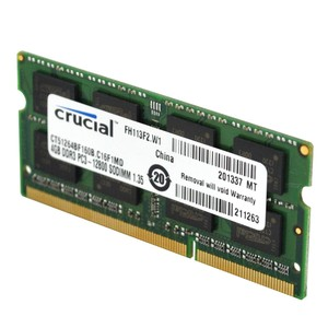 CRUCIAL 4 GB, DDR3L, SO DIMM 204-Pin