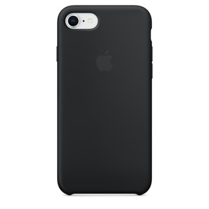 APPLE Silikon Case iPhone 8 / 7 / 6s / 6 Schwarz