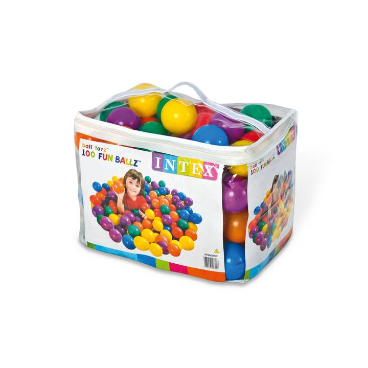 FUN BALLZ (Ball-100pcs), Ages 2+ 8cm