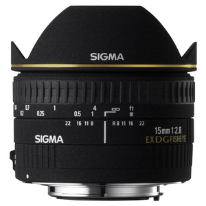 SIGMA EX DG Diagonal-Fisheye 15 mm f/2,8