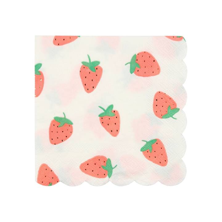 MERI MERI Servietten Strawberry 125 x 125 mm, 16 Stück