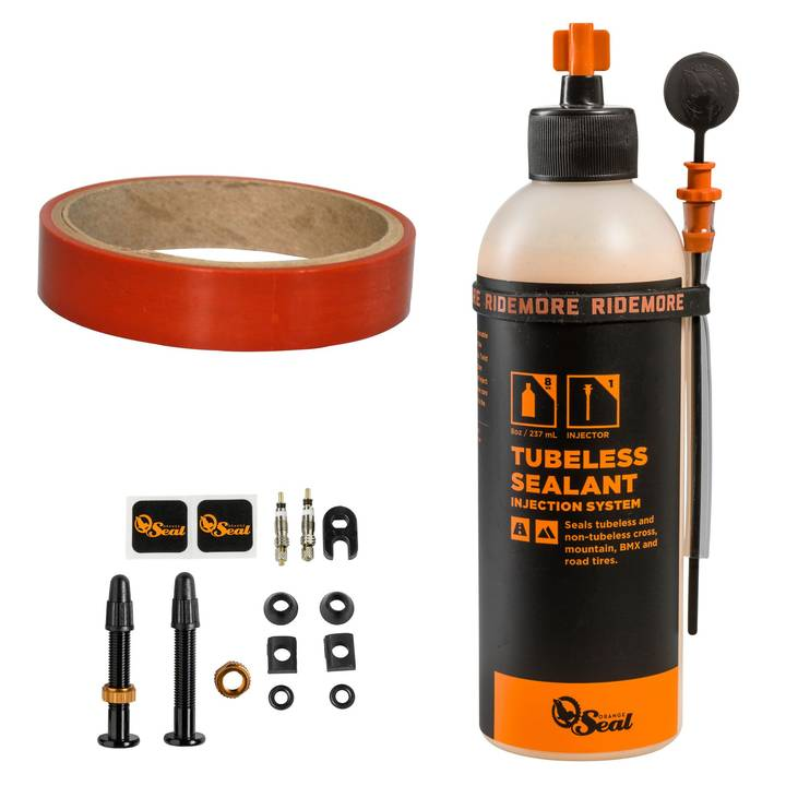 ORANGE SEAL Tubeless-Milch Kit REGULAR mit 18mm Felgenband
