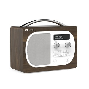 PURE Tragbares Digital Radio Evoke D4, Walnut