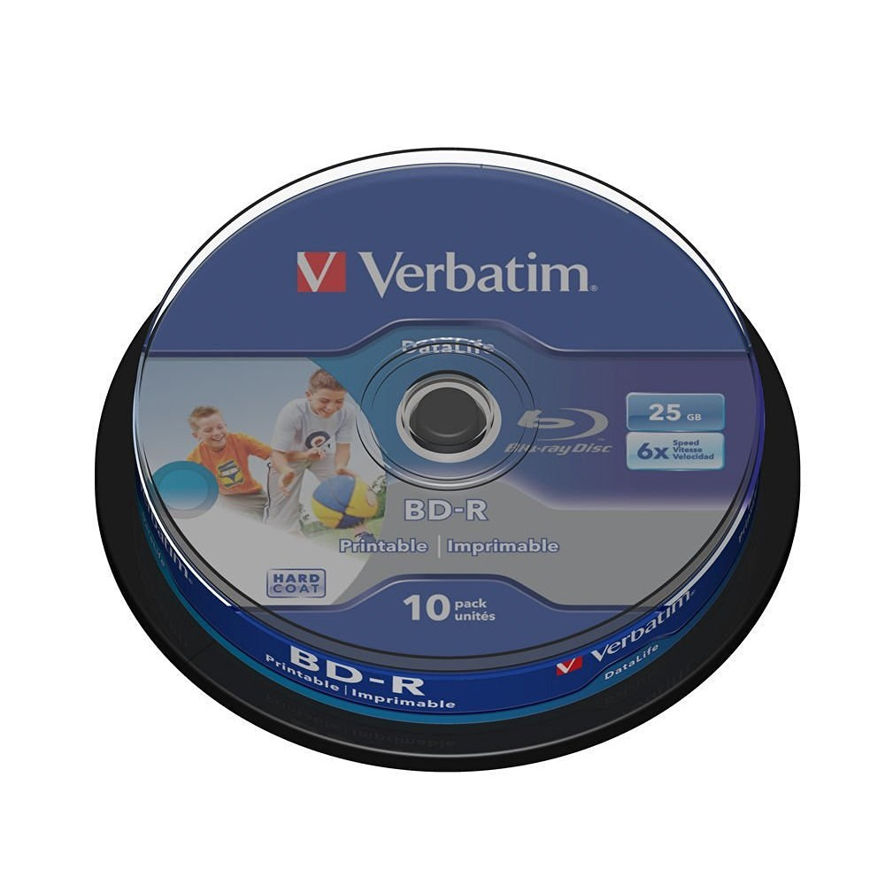 Verbatim BD-R 6x Single Layer 25GB 10-Sp