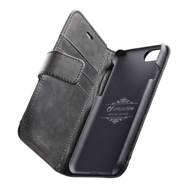 CELLULAR Ledercase Supreme für iPhone 8/7 Black
