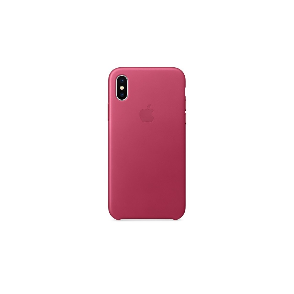 APPLE iPhone X Leather Case - Pink Fuchs