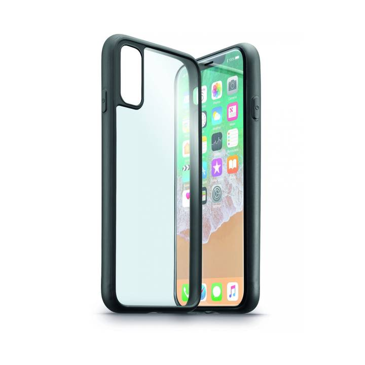 CELLULAR Contour-Case für iPhone X Clear/Black