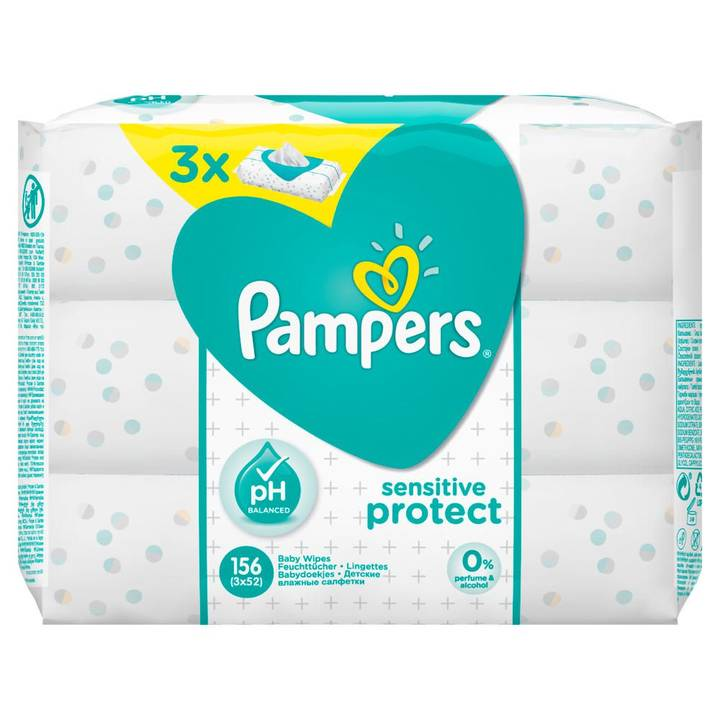 Pampers Feuchte Tücher Sensitive Sparpac