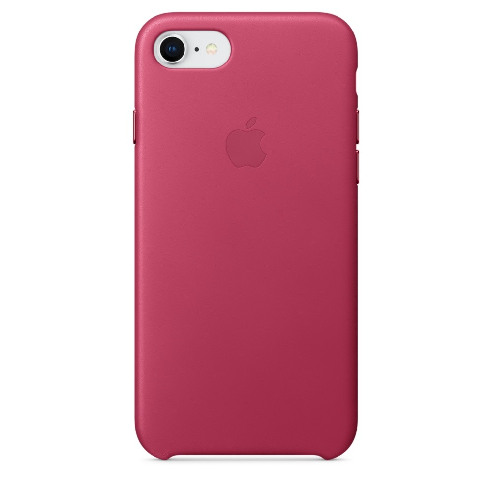 APPLE iPhone 8 / 7 Leather Case - Pink F