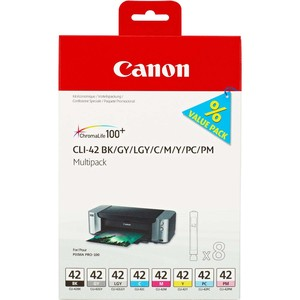 CANON CLI-42 BK/GY/LG/C/M/Y/PC/PM - 8er-Pack