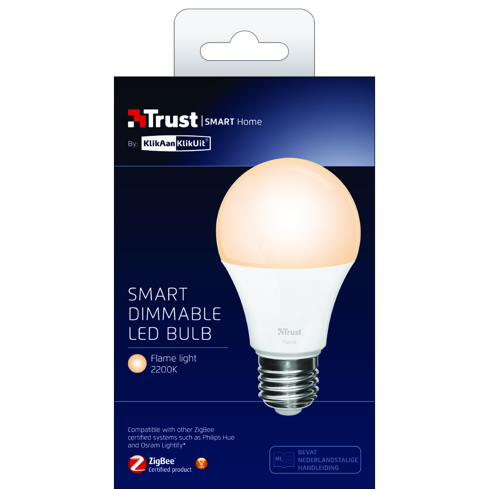 TRUST LED-Birne dimmbar E27 Flame
