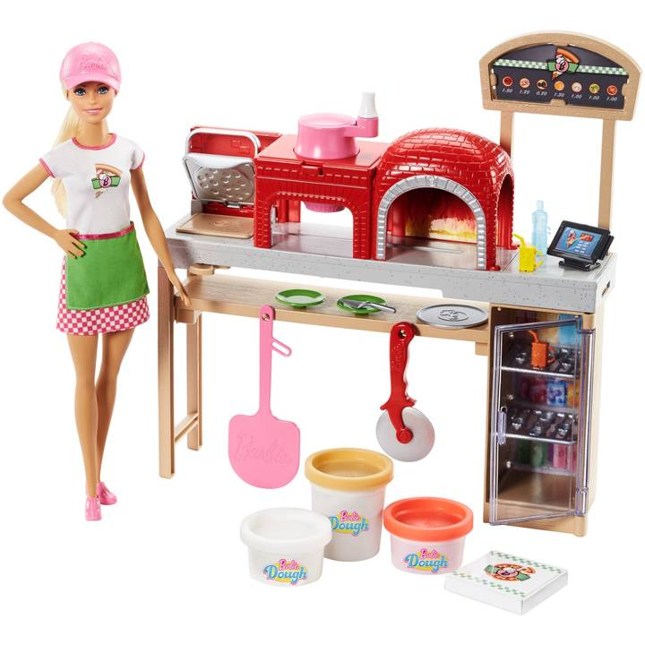 Barbie C&B Pizzabäckerin Puppe & Spielse