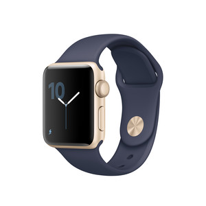 APPLE Watch Series 2 38 mm Sportarmband Space Gold/Blue