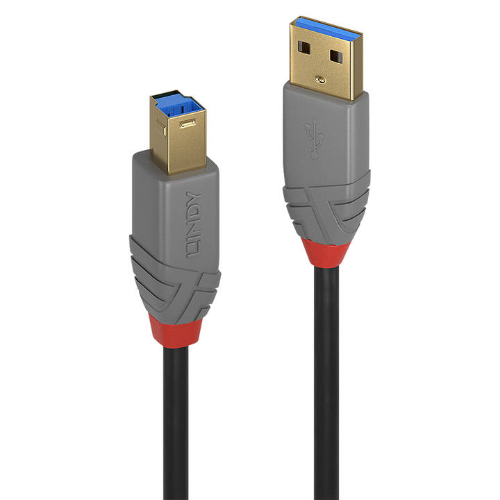 LINDY 3m USB 3.0 Typ A to B Cable Anthra