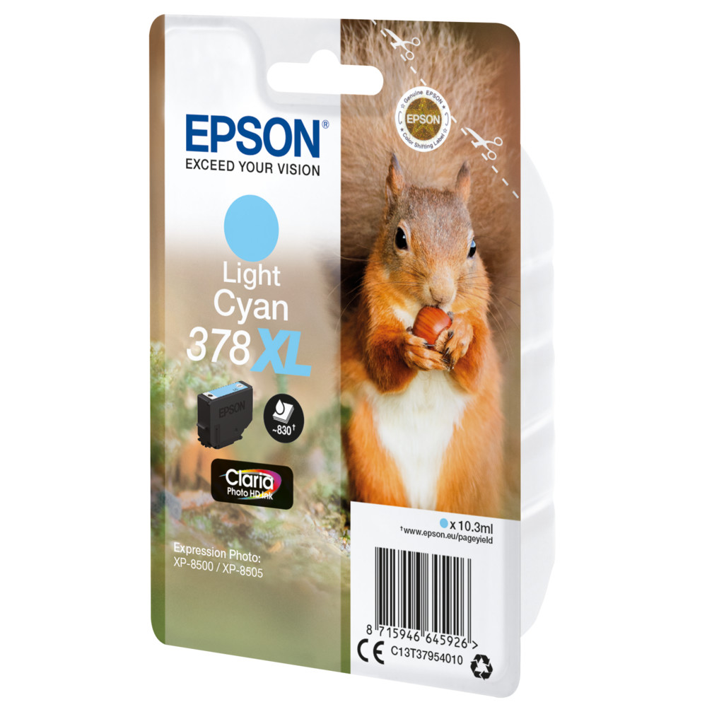 EPSON Singlepack Light Cyan 378XL Squirr