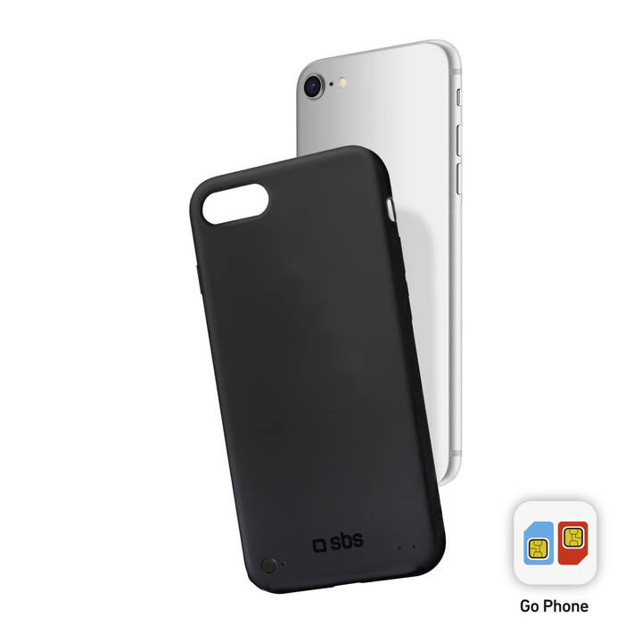 SBS Second SIM-Case, iPhone 6 / 6S / 7 / 8, Black