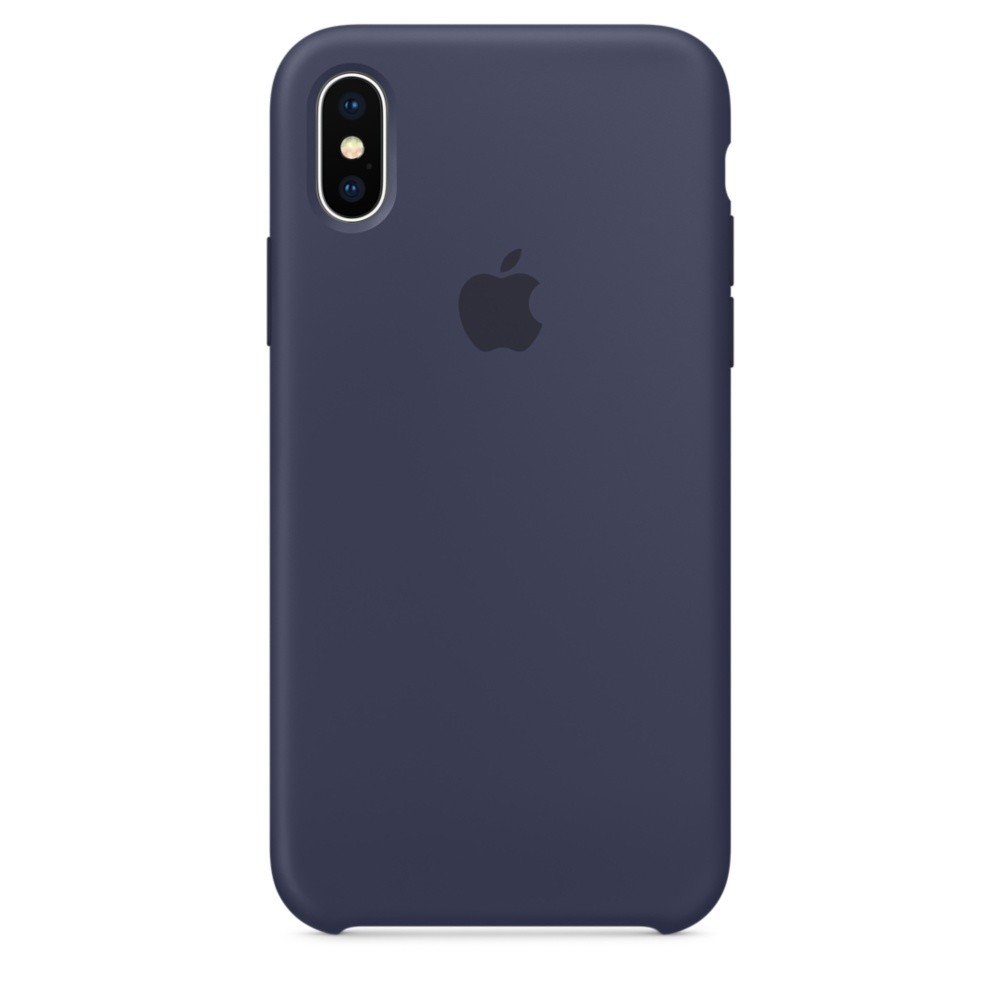 APPLE iPhone X Silikon Case Mitternachtsblau