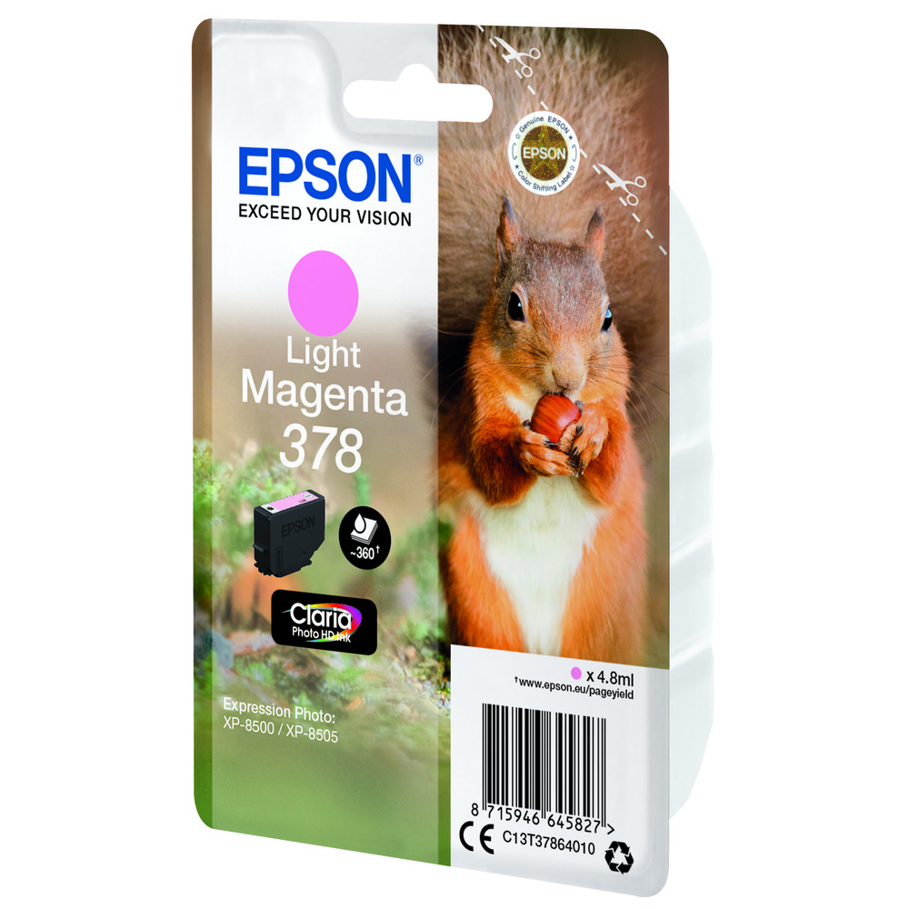 EPSON Singlepack Light Magenta 378 Squir