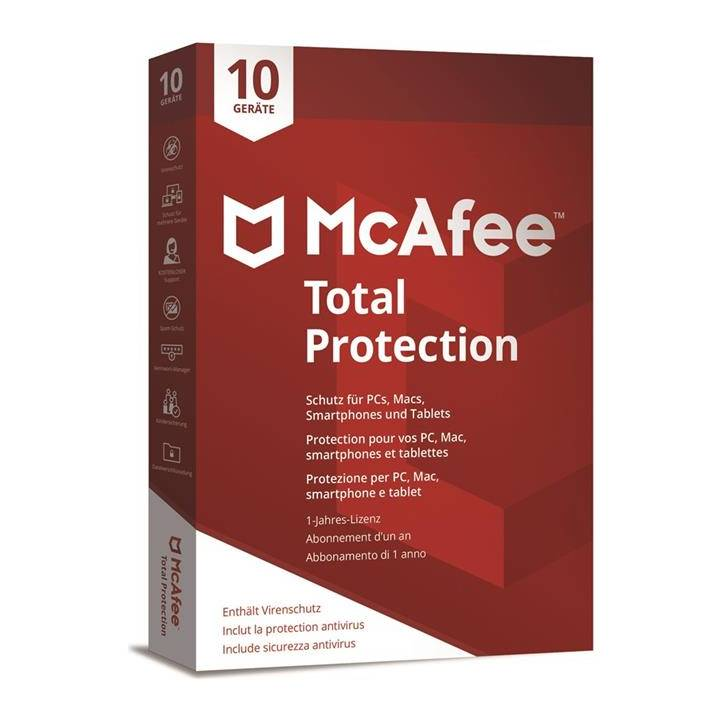 MCAFEE Total Protection 2018 - 10 Geräte (DFI)