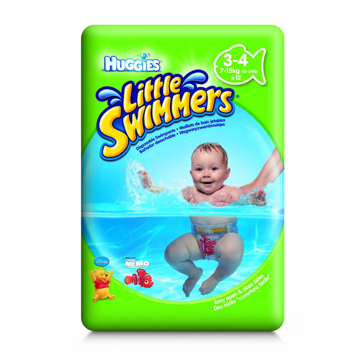 HUGGIES couches de bain taille 3-4