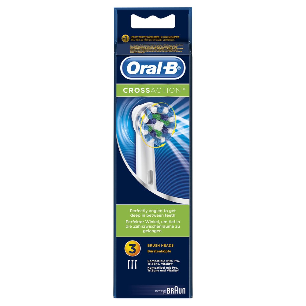 ORAL-B CrossAction Ersatzbürsten 3-Pack
