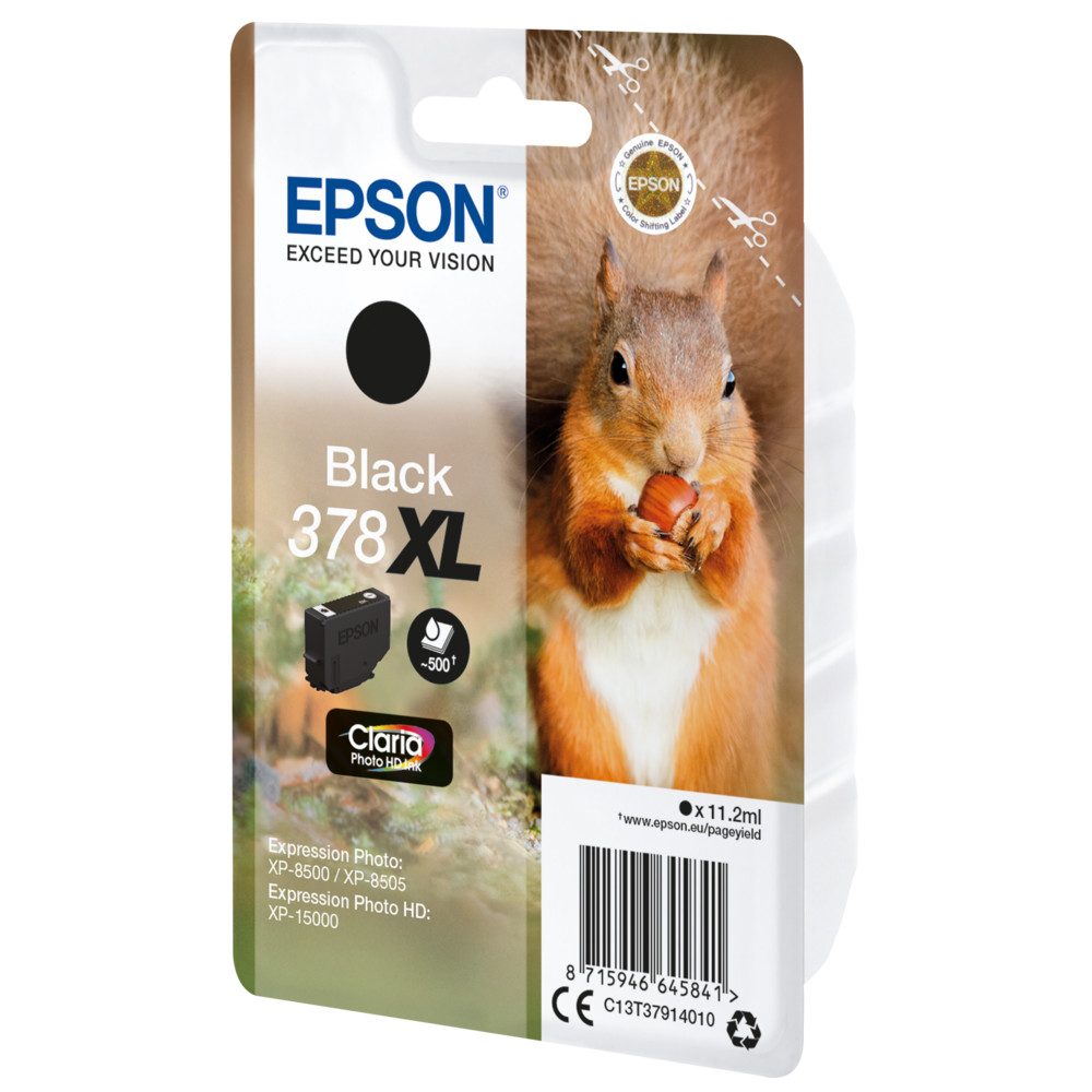 EPSON Singlepack Black 378XL Squirrel Cl