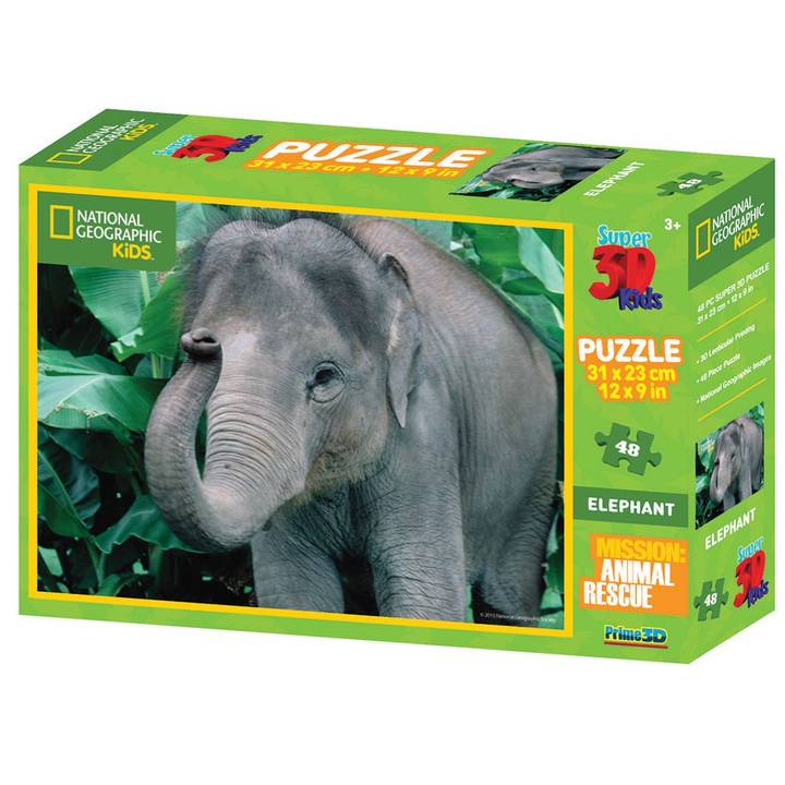 National Geo 3D Puzzle Elephant 100 Teil