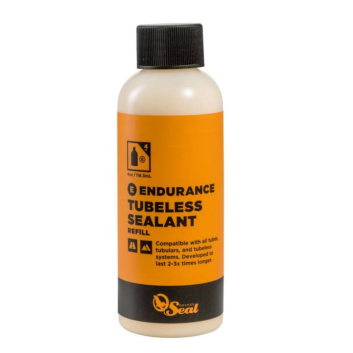 ORANGE SEAL Tubeless-Milch Naturlatex-Dichtmilch ENDURANCE, 0.12 l