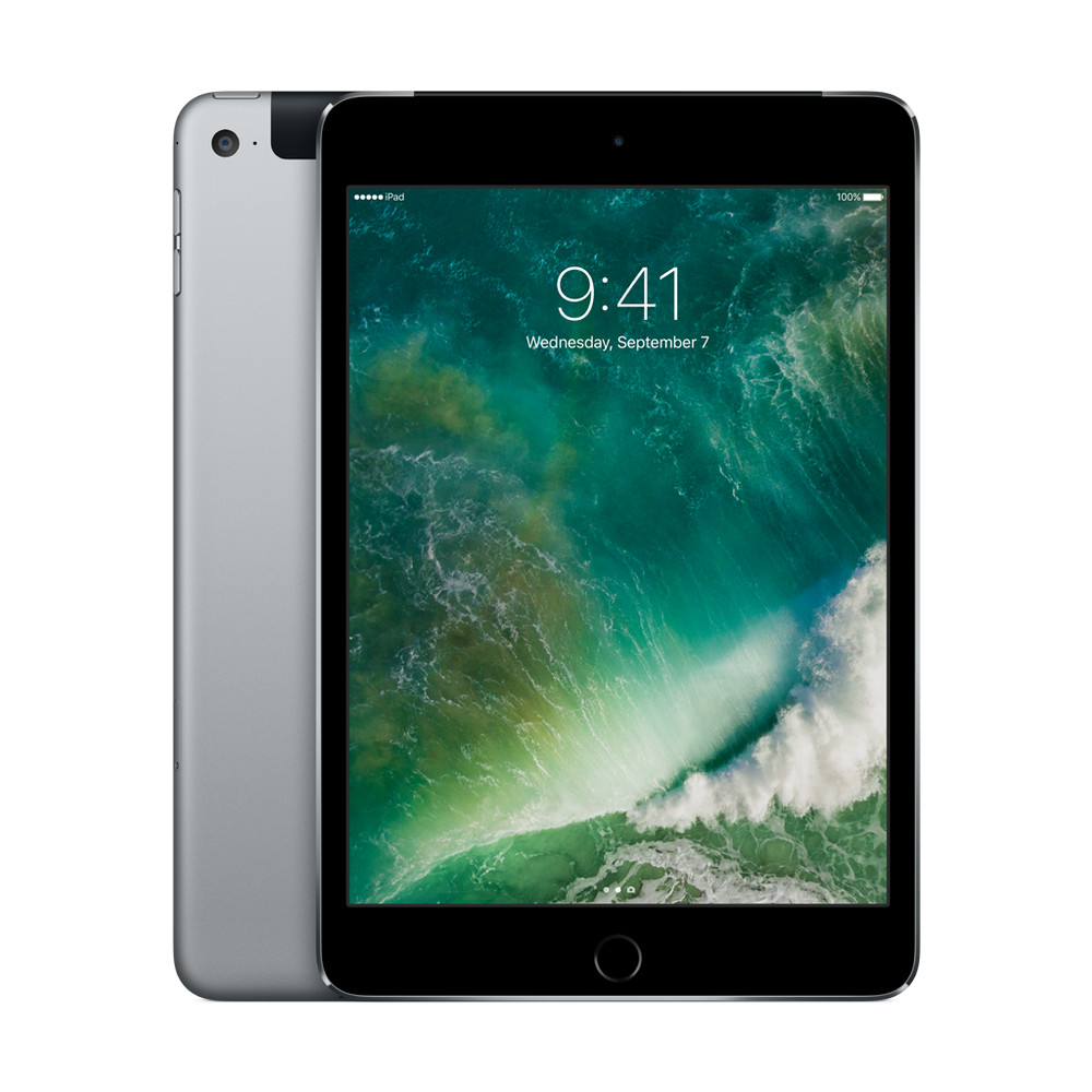 "APPLE iPad mini 4 Wi-Fi + Cellular, 7.9"", 16 GB, Space Grey"