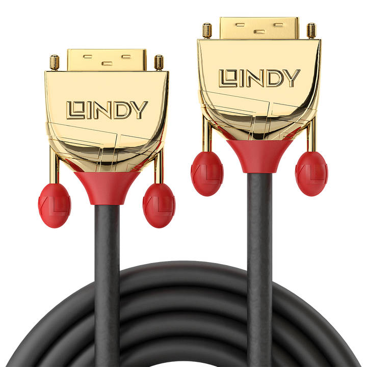 LINDY 10m DVI-D Single Link Cable, Gold