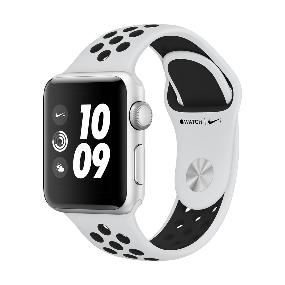 APPLE Watch Nike+ 38mm Silber, Pure Platinum/Schwarz