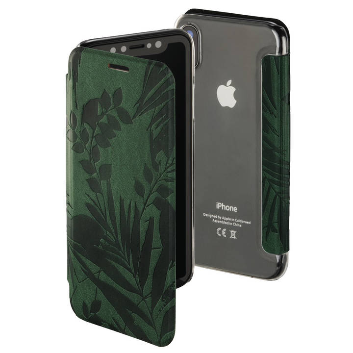 "HAMA Flipcover ""Jungle Leaves"" für Apple iPhone X"