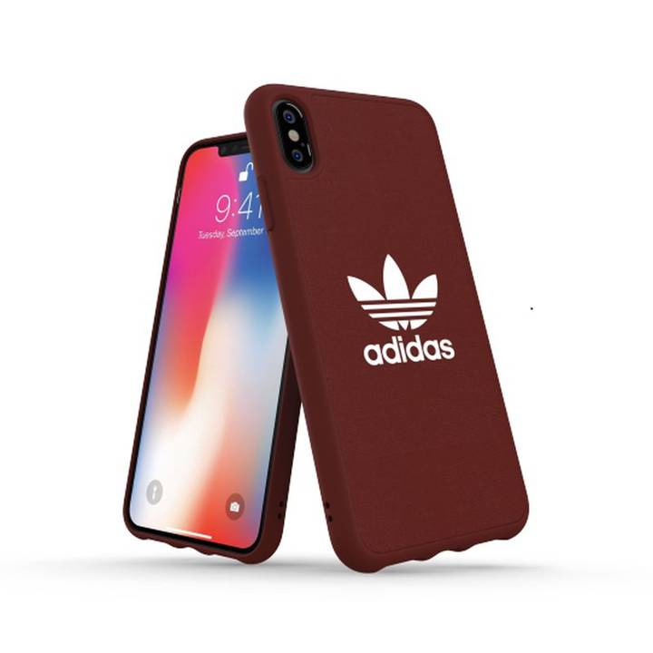 ADIDAS Back Cover Moulded Canvas iPhone XS Max, rot