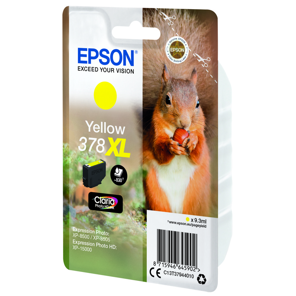 EPSON Singlepack Yellow 378XL Squirrel C