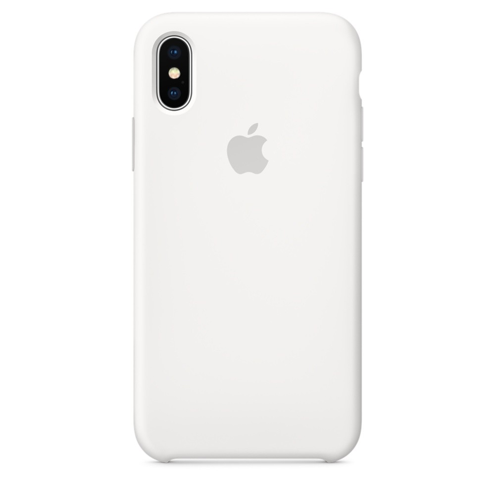 APPLE iPhone X Silikon Case Weiss