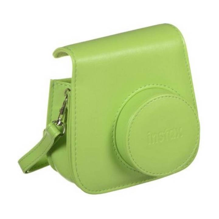 Instax Mini 9 Leather Case Lime Green