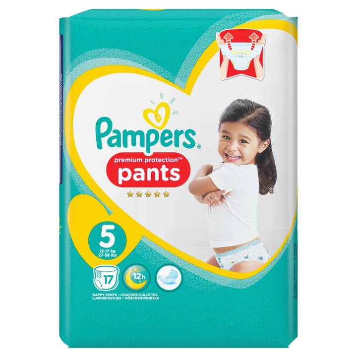 PAMPERS Windeln Premium Protection Pants Tragepack Grösse 5