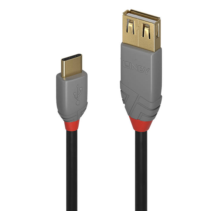 LINDY 0.15m USB 2.0 C to A AdapterCable