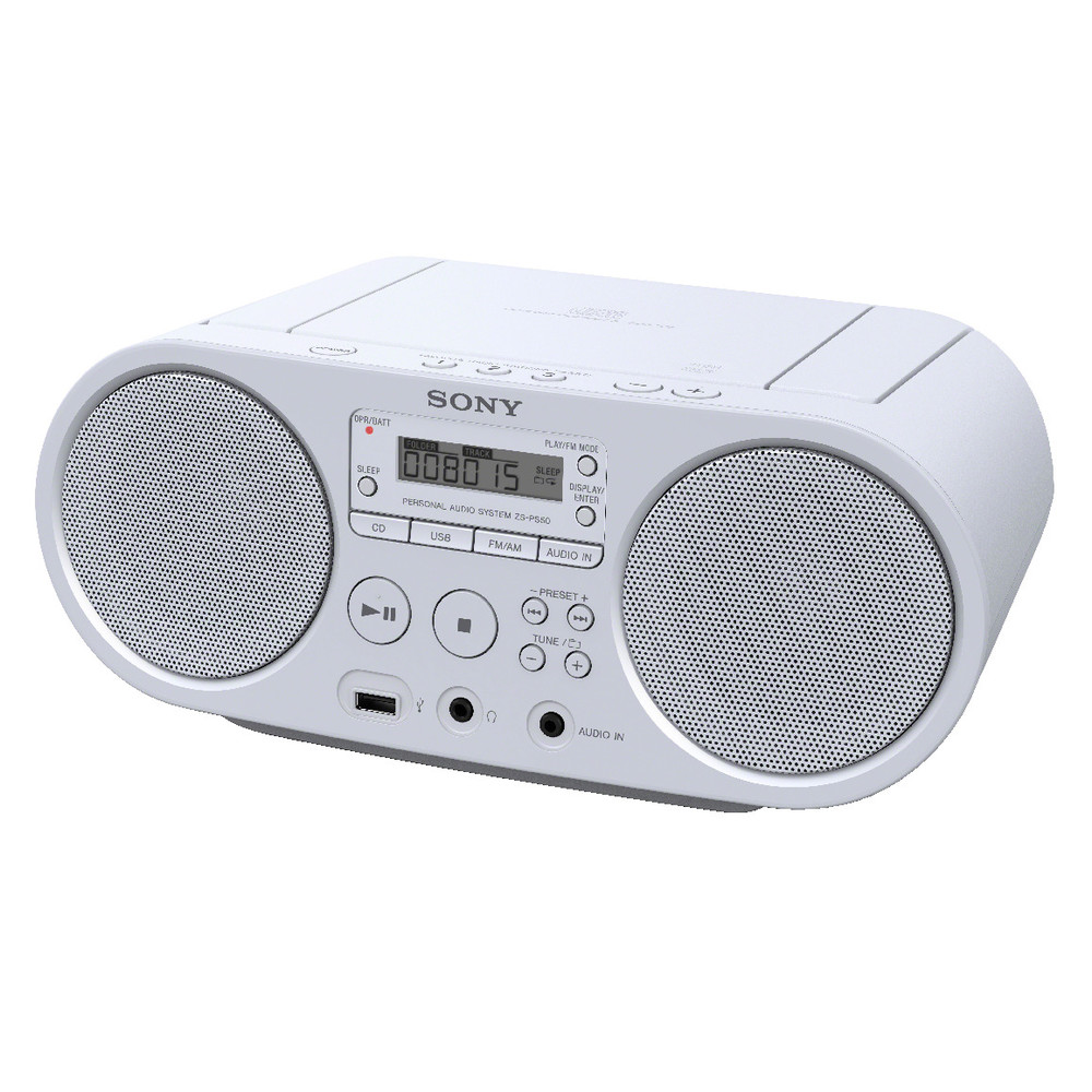 SONY Boombox ZS-PS50 White