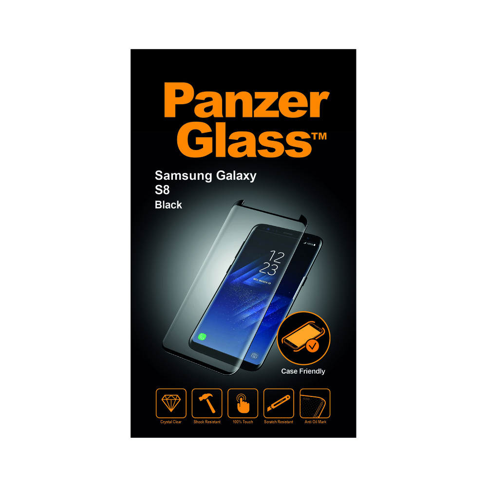 PANZERGLASS vetro antiproiettile Custodia Friendly Galaxy S8 Nero