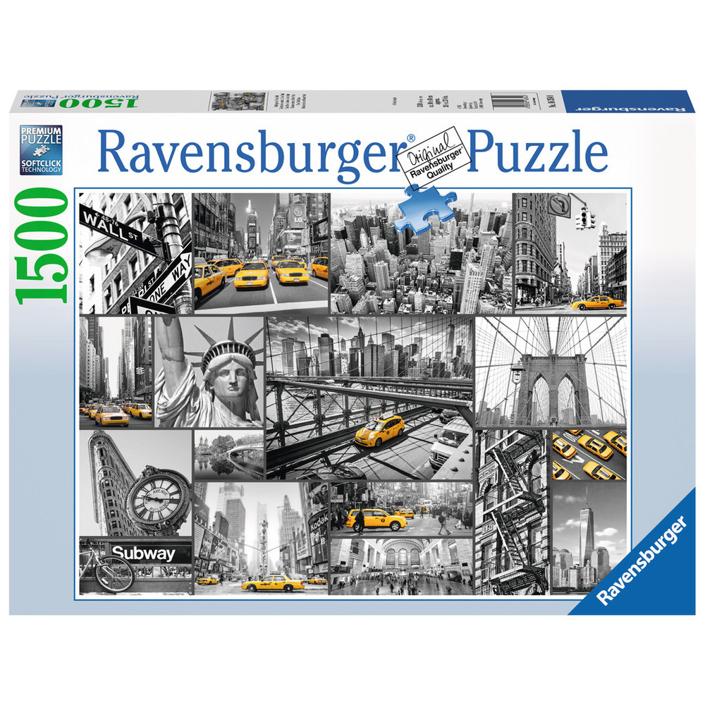 RAVENSBURGER Puzzle - Farbtupfer in New York - 1500 Teile