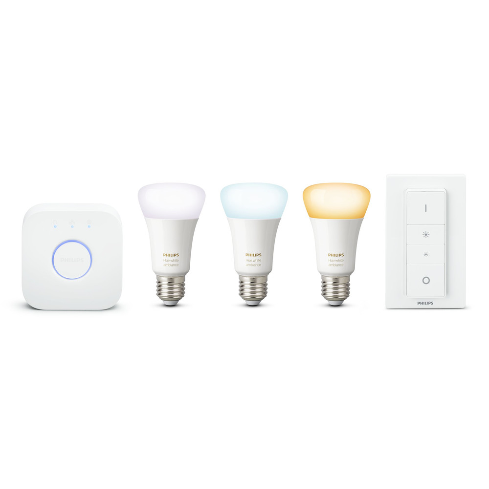PHILIPS Hue Starter Kit White Ambiance 9.5W E27