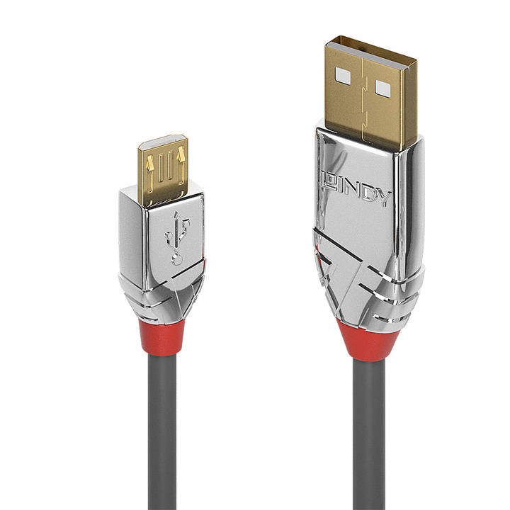 LINDY 3m USB 2.0 Type A to Micro-B Cable
