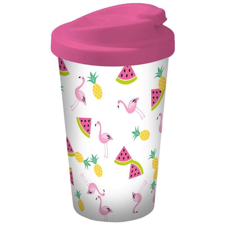 GEDA Kaffeebecher Flamingo 4 dl
